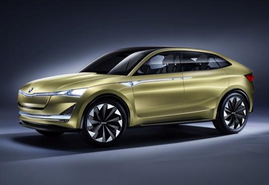 Koncept VISION E (2017) s pohonem 4x4 a dojezdem 500 km předznamenal éru elektromobility automobilky Škoda Auto.