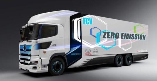 auto Toyota vodíkové nákladní auto kamion