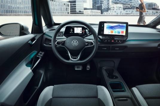 auto elektromobil Volkswagen ID.3 interiér
