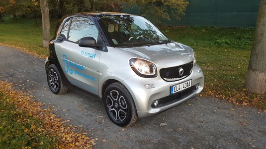 auto test elektromobilu Smart EQ ForTwo