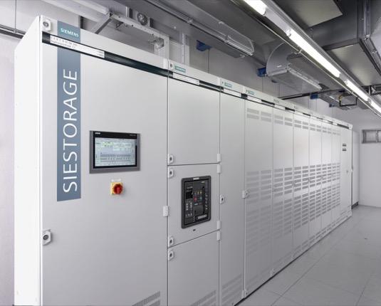 Bateriový úložný systém Siestorage společnosti Siemens.