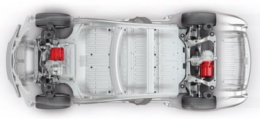 auto Tesla Model S elektromotory elektromobilu