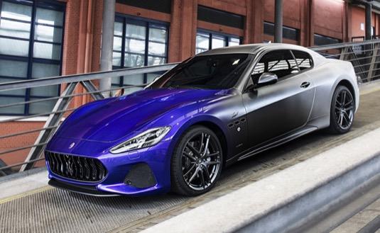 Každý ze tří vozů má jedinečné stupňované barevné schéma inspirované vozem GranTurismo Zéda, které oslavuje poslední den výroby Maserati GranTurismo.