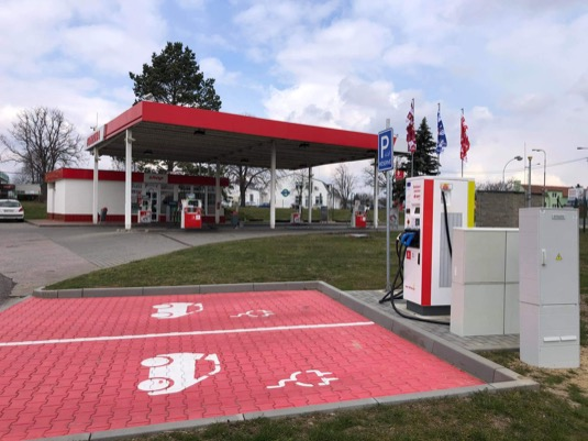 rychlonabíjecí stanice Vyškov E.ON Benzina