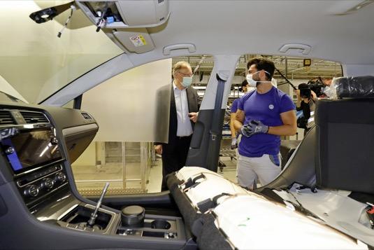 auto výroba Volkswagen továrna