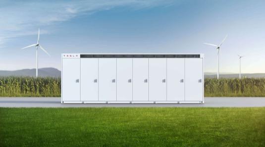 Tesla Megapack BESS baterie stacionární úložiště