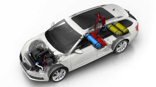 auto Škoda Octavia G-TEC s pohonem na stlačený zemní plyn CNG