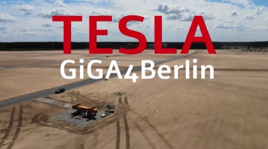 stavba základů evropské Tesla Gigatovárny 4 u Berlína