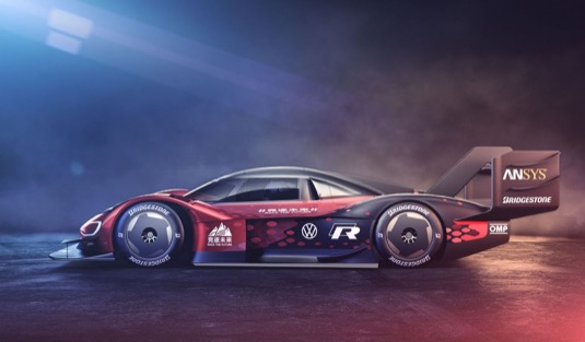 """Elektrický prototyp ID.R ztělesňuje motto značky Volkswagen v Číně: """"Race the Future"""""""