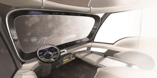 HDC-6 NEPTUNE společnosti Hyundai ztělesňuje její vizi techniky a designu elektricky poháněného nákladního vozidla s palivovými články a nulovými emisemi
