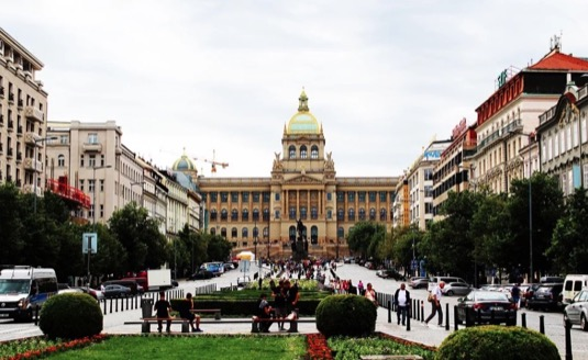 Praha Václavské náměstí Národní muzeum