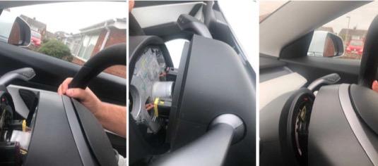 auto elektromobil Tesla Model 3 volant