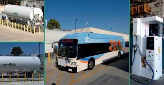auto vodíková čerpací stanice autobus vodík