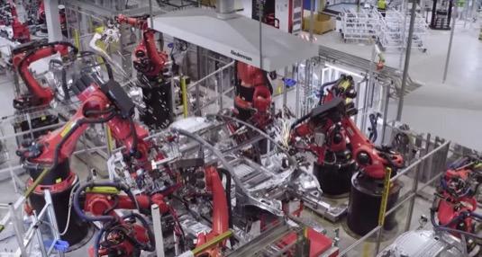 auto elektromobily výroba Tesla Gigatovárna 3 Šanghaj