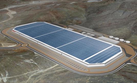 auto elektromobily výroba Tesla Gigafactory Gigatovárna 1