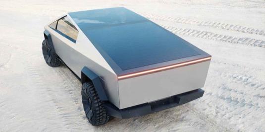 auto Tesla Cybertruck solární střecha