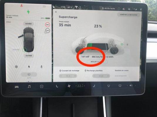 auto elektromobily Tesla nabíjení Supercharger 150 kW