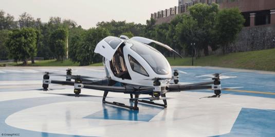 létající přepravní dron Ehang 216