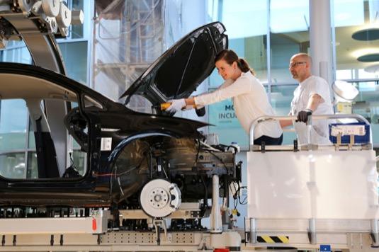 auto elektromobil výroba Volkswagen e-Golf