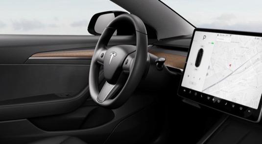 auto elektromobil vyhřívaný volant elektromobilu Tesla Model 3