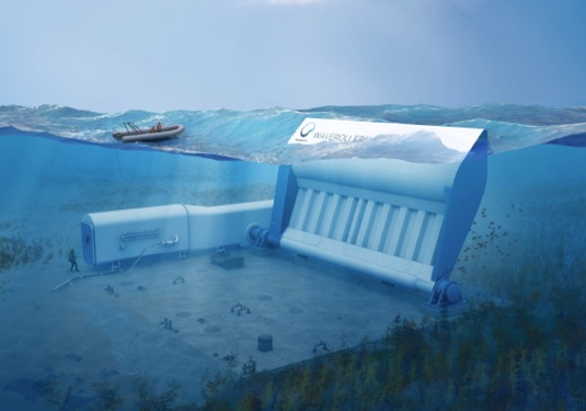 Waveroller AW Energy vlnová elektrárna oceán