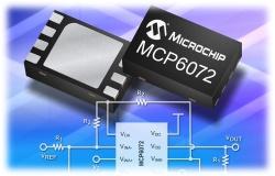 Nízkopříkonové a precizní operační zesilovače Microchip