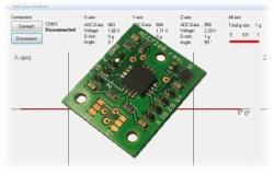 Test akcelerometru Freescale MMA7260QT