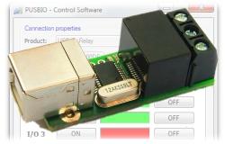 USB relé a USB - I/O moduly